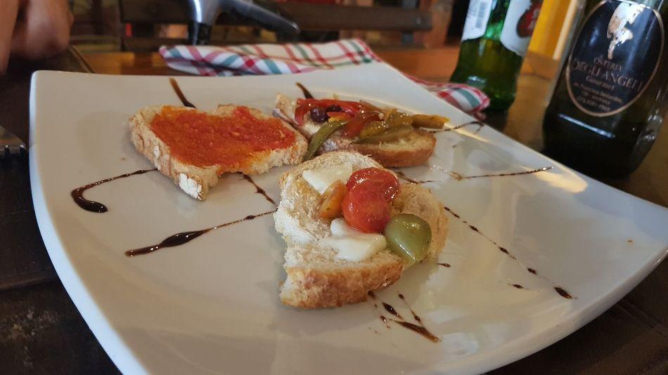 bruschetta! Bruschetta Italy Italia Italian Food Delicious Pornfood Egg Yolk Plate City Table Close-up Food And Drink