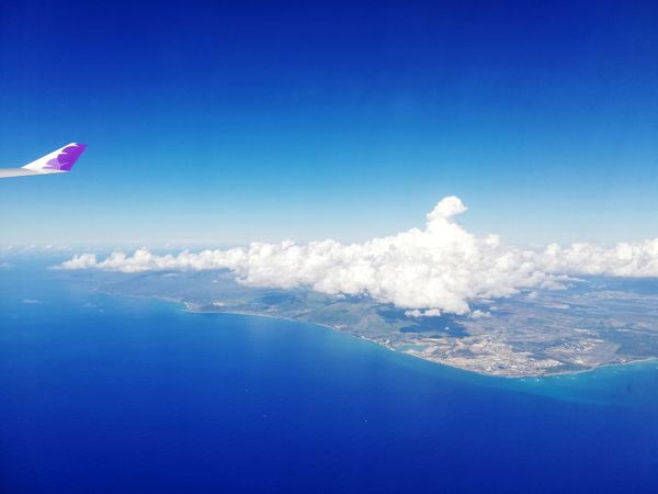 Landscape from the sky🌏🏝️ Holiday Happycolortrip Cloudscape View From Above View EyeEm Best Shots Eyeemlandscape Skyscraper Landscape_Collection Blue Sky Earth Island Sky And Clouds Flying UnderSea Fighter Plane