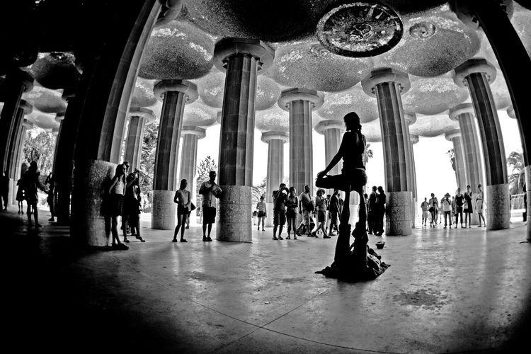 """Lotus Pose"" Arch Architectural Column Architecture Building Exterior Built Structure Column Famous Place Gaudi History Large Group Of People Leisure Activity Lifestyles Men National Landmark Person Place Of Worship Tourism Yo"