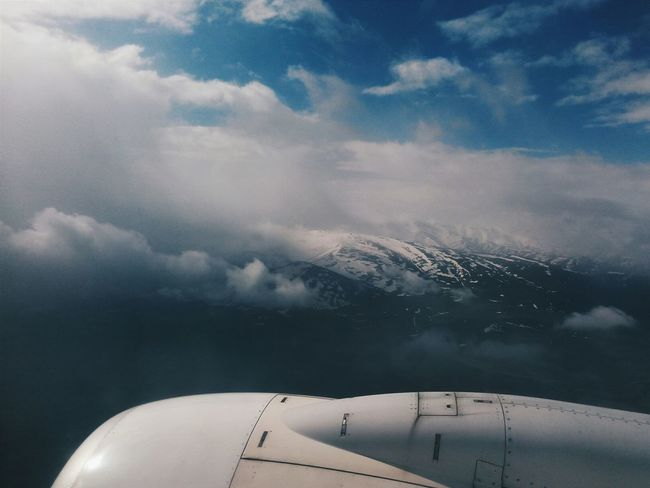 Sky Collection EyeEm Best Shots OpenEdit Mountains Snowy From An Airplane Window Sky And Clouds Istanbul Turkey Vscocam Cobalt Blue By Motorola