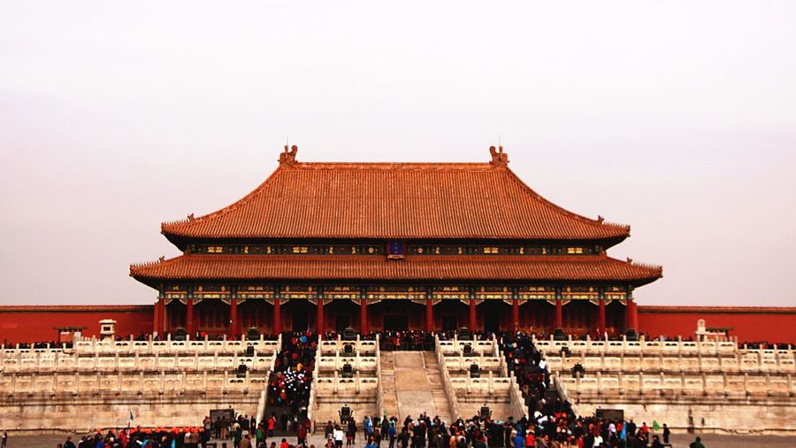 Beijing Built Structure Architecture Large Group Of People Travel Destinations Building Exterior Tourism Crowd Sky People Tourist Visiting OpenEdit