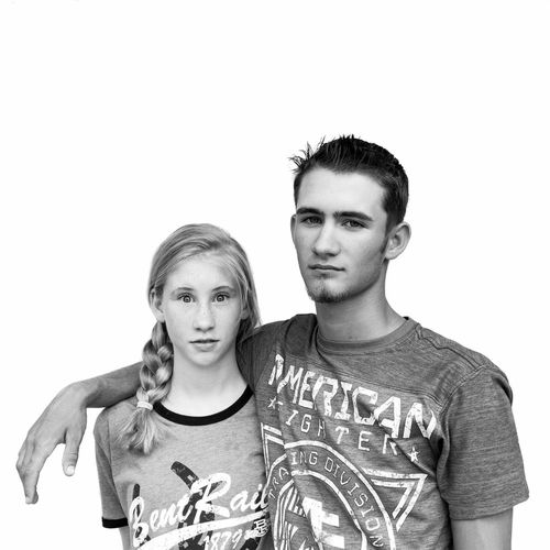 Two People White Background Portrait Young Adult Looking At Camera Studio Shot People Togetherness Siblings Sibling Love EyeEm Selects