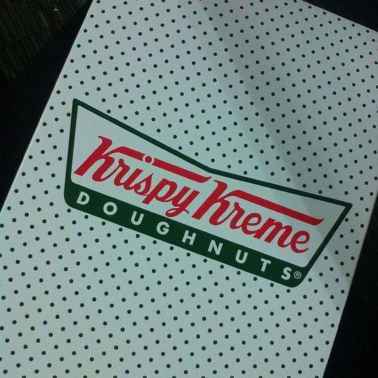 Thanks, boss! KrispyKreme Glazedonuts Freebie Donuts atwork