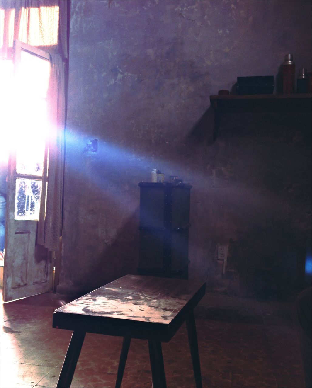 table, indoors, chair, empty, absence, no people, home interior, architecture, illuminated, day