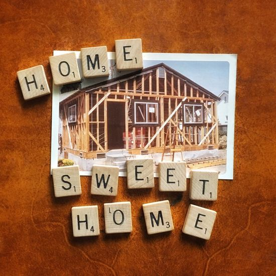 Home, sweet home Construction Home Home Sweet Home Scrabble Texture Fall Colors Old-fashioned Nostalgia Memories American Dream