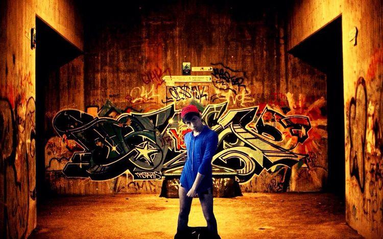 Gay Legs Graffiti Blue