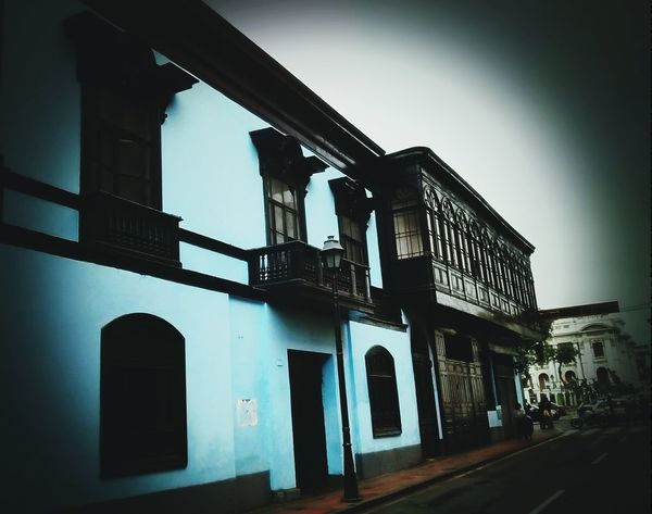Taking Photos Old House Old Architecture Streetphoto City View  Casona Balcones Travel Photography Coloured Houses -Lima City,Peru