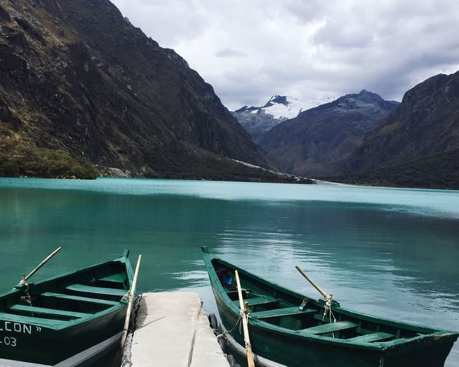 Neighborhood Map Peru Mountain Water Lake Nature Scenics Tranquility Outdoors Day Moored Nautical Vessel No People Transportation Beauty In Nature Sky Cloud - Sky