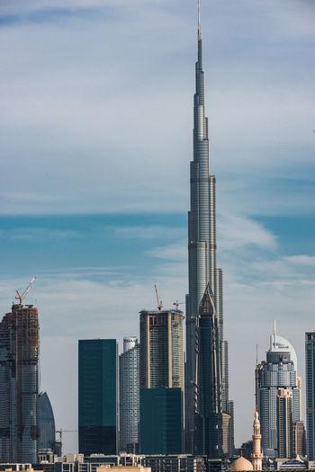 Dubai Burj Khalifa Architecture Building Exterior Built Structure City Day Development Factory Industry Modern No People Outdoors Sky Skyscraper Tall Tall - High Tower Urban Skyline