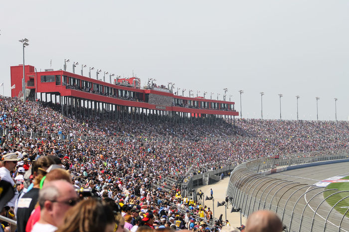 Auto Club Speedway Bleachers California Crowd Crowds Fans NASCAR Racetrack Racing Skybox Speedway Sporting Event Sports Venue Stadium