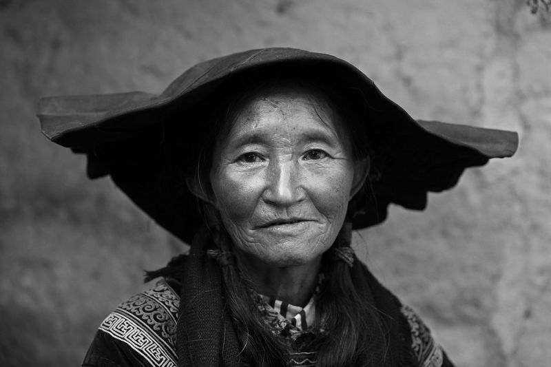 Portrait Of A Woman Portrait One Person Woman Relaxing One Man Only Country Life Tradition Conventional Traditional Culture Fok Lifestyles Smiling Mature Adult Life Travel Destinations Blackandwhite Monochrome Outdoors EyeEm Best Shots Day Capture The Moment EyeEm Streetphotography