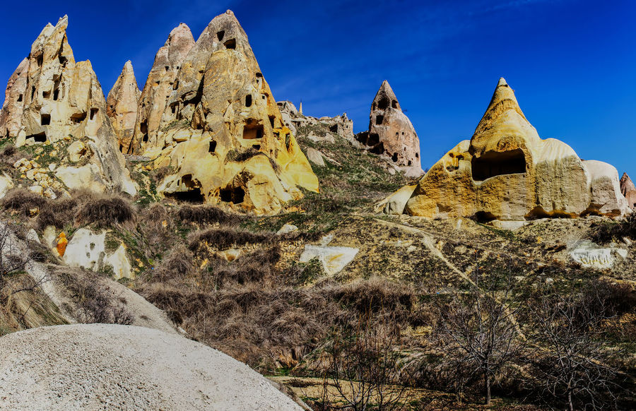Kappadokien, Türkei Beauty In Nature Day Geology Kappadokia Landscape Mountain Nature No People Outdoors Physical Geography Rock - Object Rock Formation Rock Hoodoo Scenics Sky The Great Outdoors - 2017 EyeEm Awards Tranquil Scene Tranquility Travel Destinations