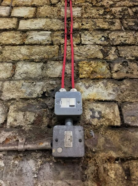 EyeEmNewHere City Derelict Abandoned Buildings Plugs Socket Wires Electricity  Mould Wall Brick