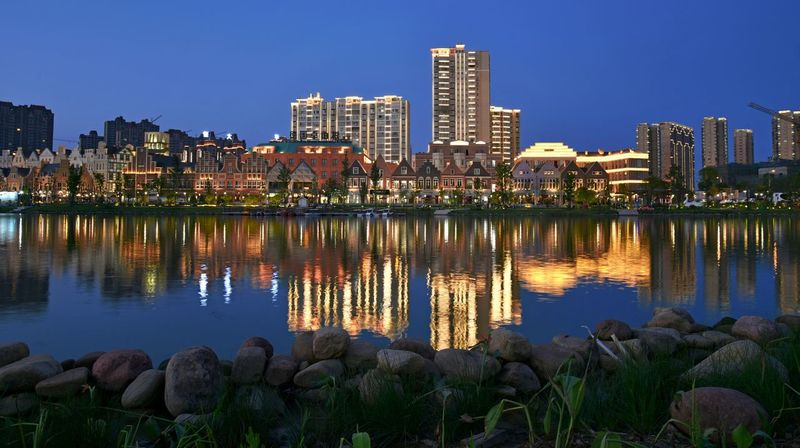 Night City Business Finance And Industry Water Outdoors Beauty