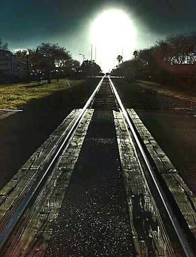 Lakeland Florida Downtown Lakeland Sunsets N Railroads Outddoor Outdoor Photography Sunset_collection Sunset Sunset Silhouettes Train Tracks Traintracks