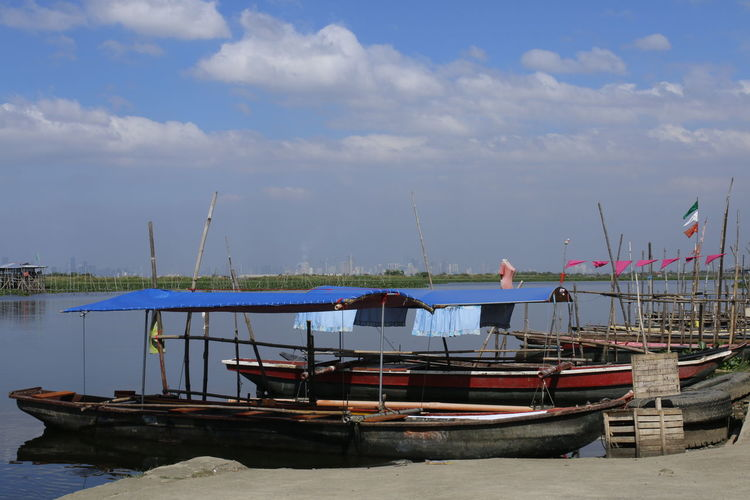 boat Landscape Sky Blue Travel Destinations Manila, Philippines AngonoLakeView Lake View Boats No People