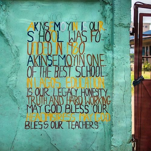 Teacher and Headmistress Love! Outside a School in Surulere . Lagos Nigeria snapitoga africa streetart