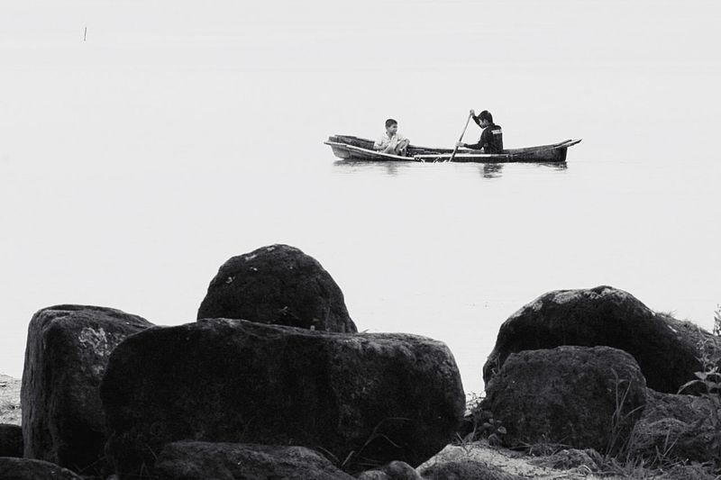Black And White Friday floating at Toba Lake Indonesia Toba Toba Lake Indonesia Photography  INDONESIA Boat Blackandwhite Blackandwhite Photography Monochrome Monochrome Photography