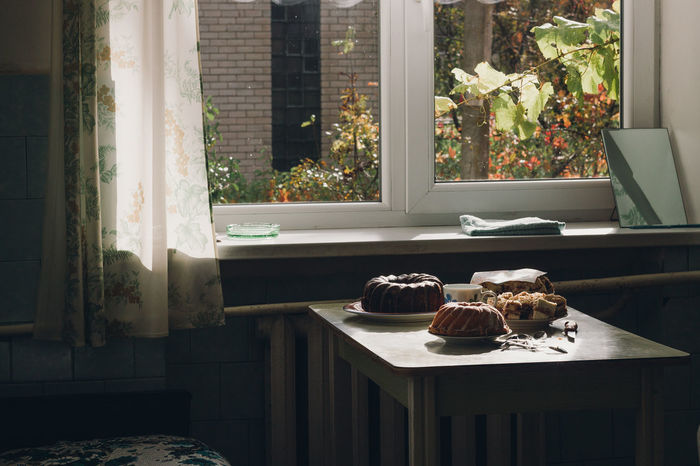 autumn in the country Autumn Autumn Colors Cloudy Light Animal Themes Cake Day Indoors  No People Window