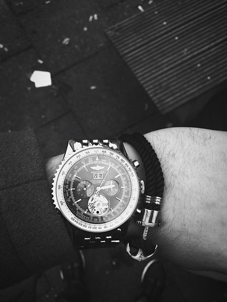 Blackandwhite Breitling Navitimer  Watch Paulhewitt Anchor IPhoneography Human Hand Time Unrecognizable Person Close-up EyEmNewHere