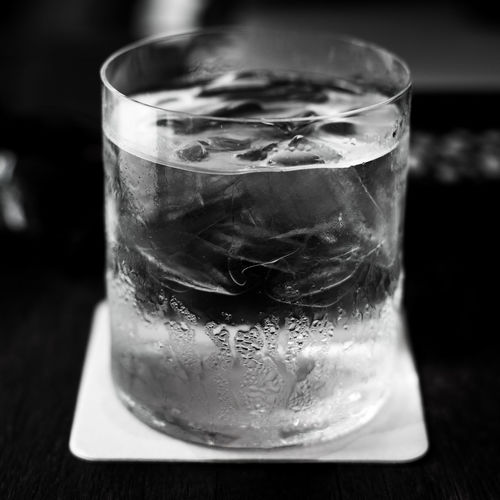 1:1 A Glass Of Water Black And White Cafe Close-up Detail Details Drink Drinking Glass Food And Drink Glass Glass - Material Home Ice Ice Cube Indoors  Lifestyles Little Details Refreshment Sculpture Single Object Square Still Life Table Transparent Welcome To Black