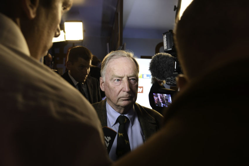 Berlin, Germany - 24 September 2017: Leader of the German political party Alternative for Germany (AfD) Alexander Gauland speaks to journlaists after 2017 German Elections Portrait Mature Men Afd Party Politics And Government Politics Famous Place Leader Right Wing Far Right Moving Through Europe person Press for Progress Interview