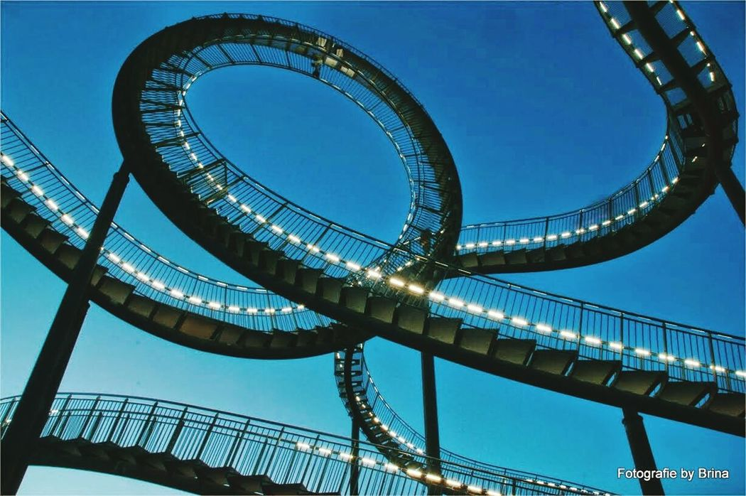 Bluehour Angerbach | Duisburg Blaue Stunde Achterbahn Roller Coaster Tiger & Turtle Ruhrgebiet Landmark