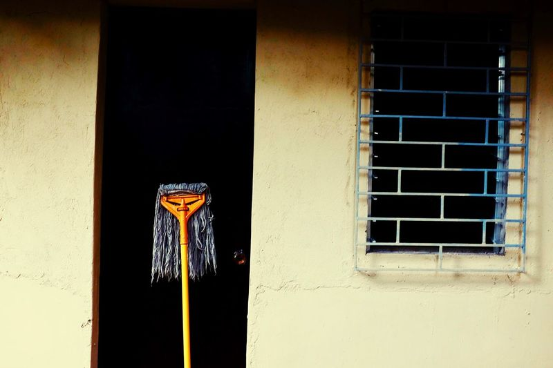 Paint The Town Yellow Face Broomstick Mops