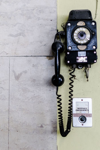 Technology Connection Telephone Telephone Receiver Retro Styled No People Landline Phone Communication Close-up Old Black Color Wall - Building Feature Indoors  Nostalgia Telecommunications Equipment Pay Phone Vintage Rotary Phone Metal Antique Phone Cord Electrical Equipment Rural Scene Ruins Ruined Ruins Architecture Ruined Building Old-fashioned Old Ruin Old Buildings Old Town Fashion Vintage Style Vintage Photo Berlin Berliner Ansichten Berlin Photography Sony Sonyphotography Sonyalpha