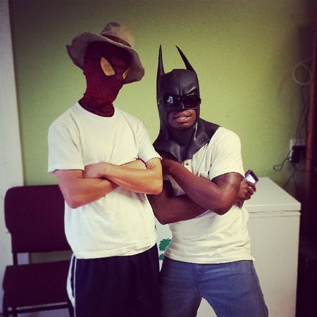 Ya Homeboys thugin it Thugs Comeatmebro Spiderman Batman postedup weoutchea