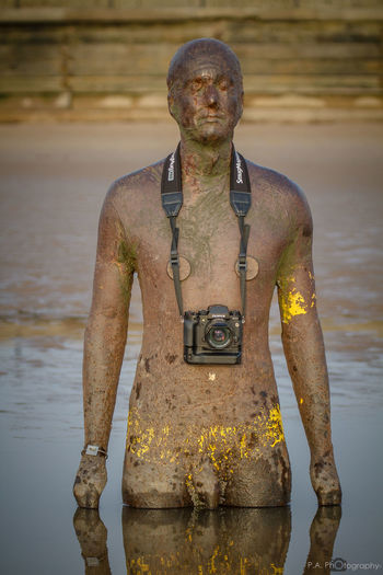 Another Place By Anthony Gormley Another Place On Crosby Beach Anthony Gormley Camera Crosby Beach FUJIFILM X-T1 Outdoors Sculptures By The Sea Seaside Water