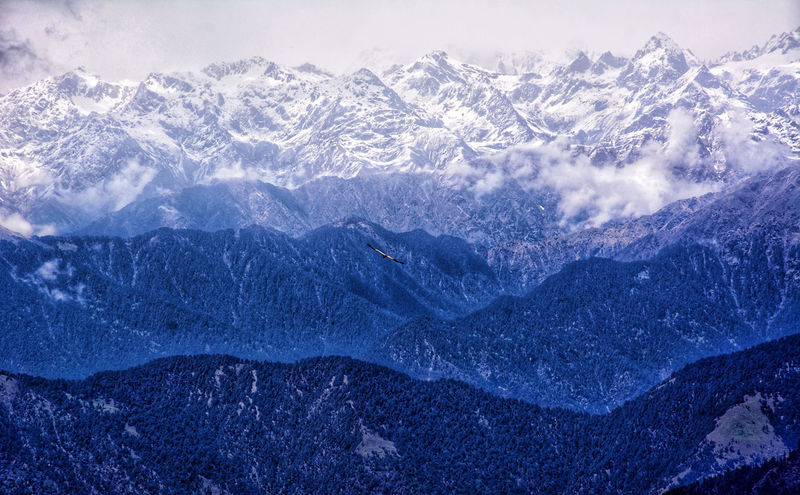 A wide view of Garwal Himalayan ranges from Chopta Valley , India Beauty In Nature Cold Temperature Day Environment Formation Frozen Garwaldistrict Himalayas, India Landscape Mountain Mountain Peak Mountain Range Nature No People Non-urban Scene Outdoors Remote Scenics - Nature Sky Snow Snowcapped Mountain Tranquil Scene Tranquility Winter