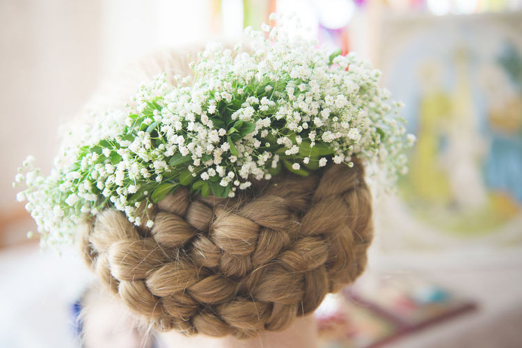 Bride Flower Flowers In Hair Fragility Freshness Hair Hairstyle HEAD Plaits Wedding Wedding Day Wedding Hair