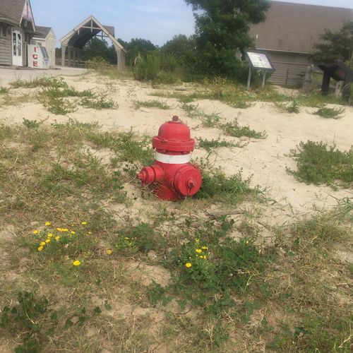 Found another fire hydrant near the Fishing Pier, half buried in the sand! CapeHenlopenStatePark Lewis, Delaware USA Sunday Drives Fire Hydrants