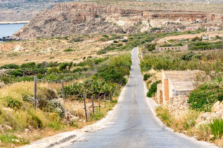 Road passing through landscape