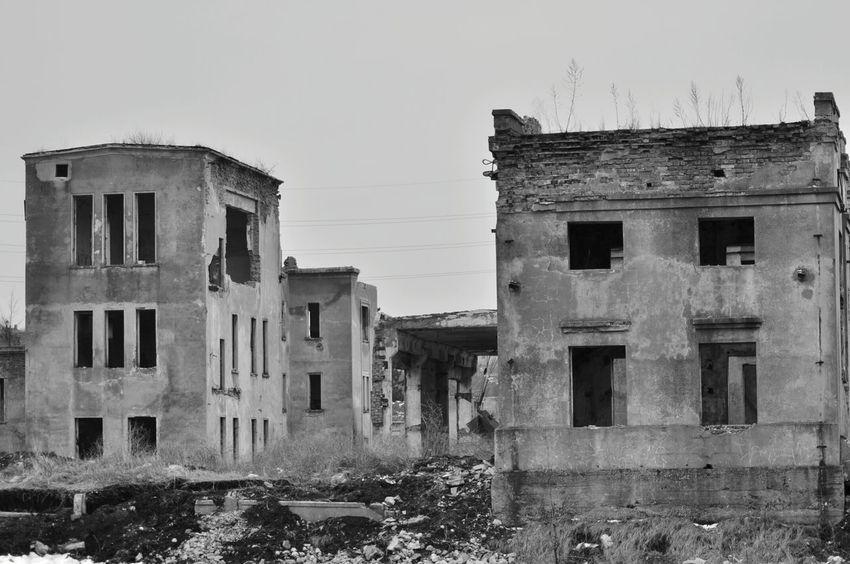 Abandoned Factory Black And White Black & White