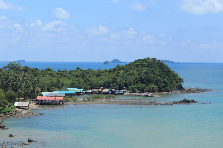 Sea Krom Luang Chumphon Khet Udomsak Beach Beauty In Nature Blue Cloud - Sky Day Land Nature Nautical Vessel No People Outdoors Plant Scenics - Nature Sea Sky Tranquil Scene Tranquility Transportation Tree Turquoise Colored Water Waterfront