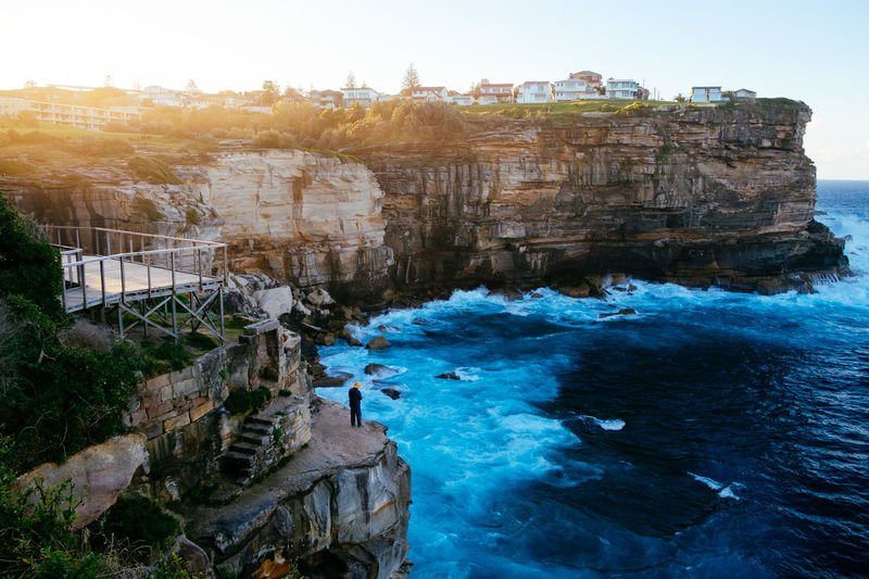 Lost In The Landscape Architecture Beauty In Nature Building Exterior Built Structure Cliff Day Nature No People Outdoors Rock - Object Rock Formation Scenics Sea Sky Tourism Travel Destinations Water