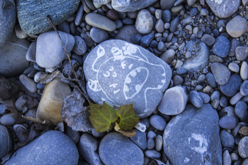 My leaf, go away Backgrounds Beauty In Nature Blue Close-up Day Full Frame Large Group Of Objects Nature No People Outdoors Pebble Pebble Beach Rock - Object Stone - Object Textured  Art Is Everywhere