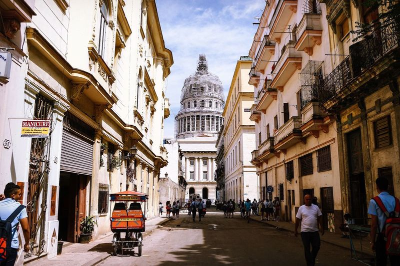 Does this remind anybody of a building in Washington D.C? (El Capitolio, Havana, Cuba) Architecture Architectural Detail Cityscapes Urban Landscape Building City Street Street Photography Travel Photography Taking Photos Eye4photography  Exploring Walking Around The City  Cuba Havana Building Exterior City Life
