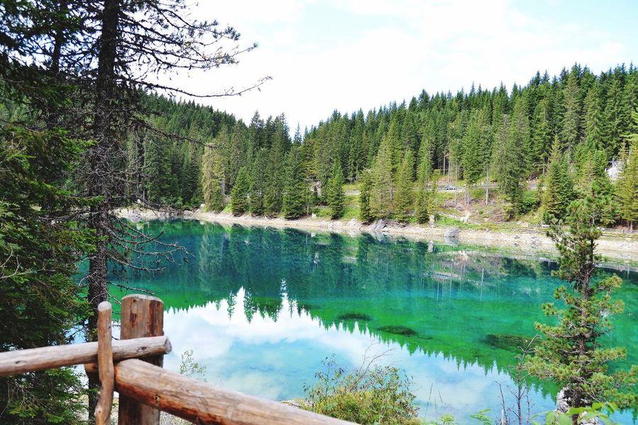 Südtirol Lagodicarezza Karersee Alto Adige Italy Landscape