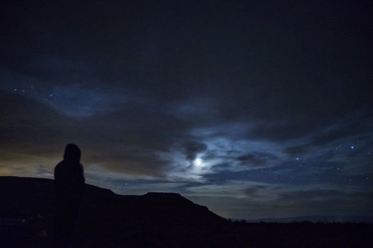 First Eyeem Photo #landscape #desert #Night #sky #moon #stars DreamScapes Long Exposure