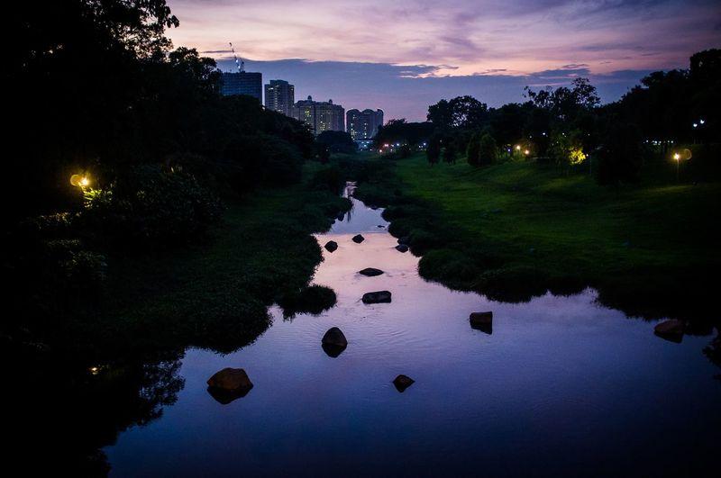 Sunset Sunset Park Singapore Water Relfection Landscape Sky X100 Fujifilm ASIA Epicsunset Nightphotography