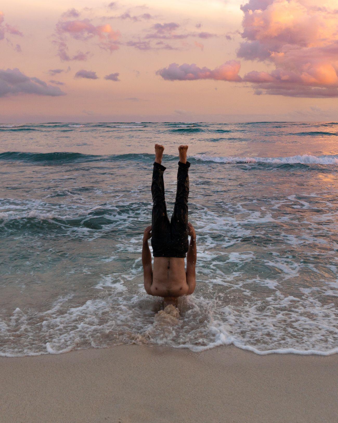 sea, sky, water, sunset, beach