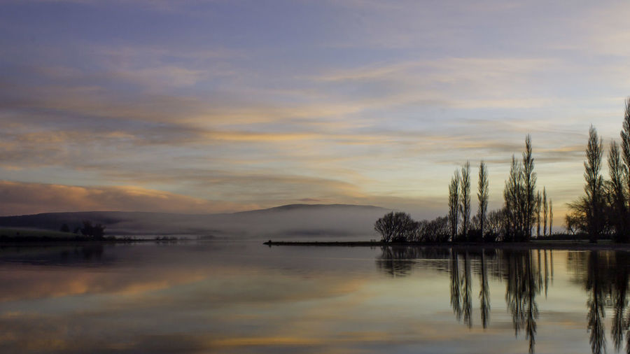Beauty In Nature Cloud - Sky Day Lake Lake Waihola Landscape Mountain Nature New Zealand Beauty New Zealand Landscape New Zealand Scenery No People Outdoors Reflection Scenics Sky Sunrise Silhouette Sunrise_Collection Sunrise_sunsets_aroundworld Sunset Tranquil Scene Tranquility Tree Water