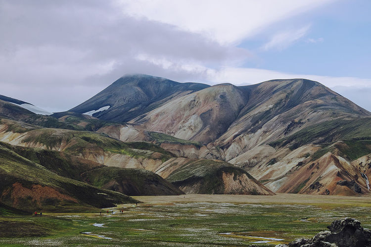 The painted hills of Landmannalaugar. Hills Iceland Iceland Memories Beauty In Nature Iceland_collection Landmannalaugar Landscape Mountain Nature No People Outdoors Scenery