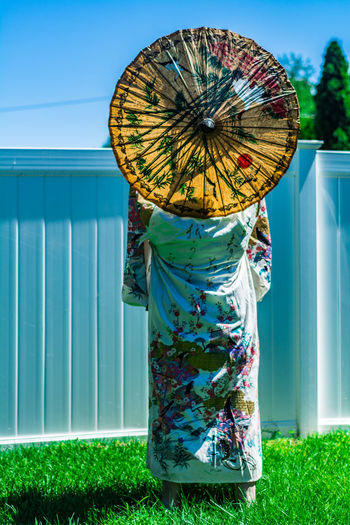 Woman wearing japanese clothes