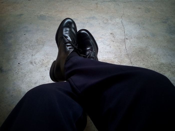 Human Body Part One Person Black Color People Human Leg Unrecognizable Person Adult Adults Only Low Section Standing Real People One Man Only Men Indoors  Only Men Day Close-up Shoe Out Of The Box