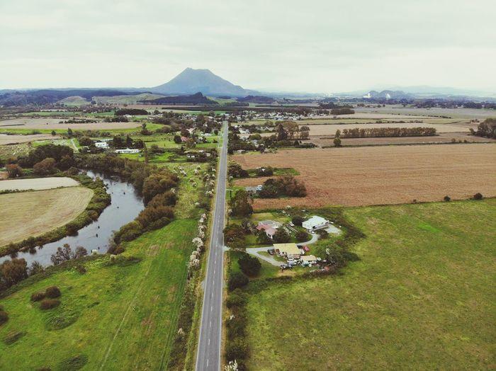Papa Kainga Reneti Putāuaki Māunga Rangitāiki Awa Te Teko Homestead Home Road Sky Landscape Tranquil Scene