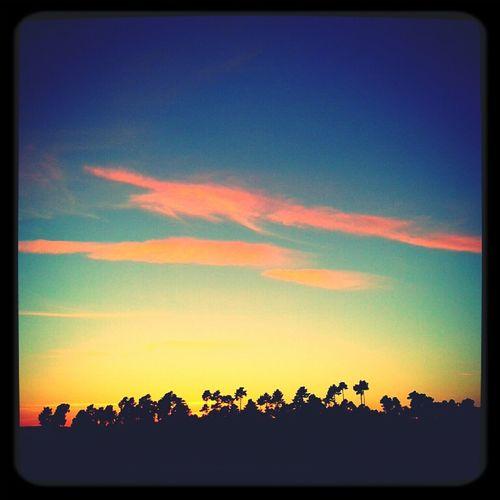 Se deshizo el dia..desgastamos el sol..apagamos la luz..nos comimos los minutos..porque a veces los finales son grandes principios.. feliz noche! Nature Skyline Sky Landscape Atardecer Skyporn Cielo